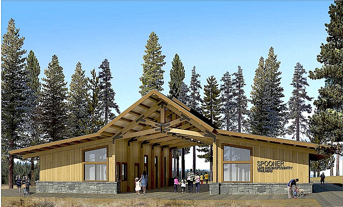 A rendering of the proposed visitor center and amphitheater at Spooner Lake in north western Douglas County.