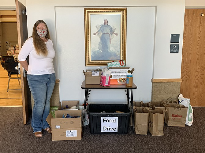In addition to blood, the Mahogany Drive congregation of the Church of Jesus Christ of Latter-day Saints in Minden gathered nearly 300 pounds of food.