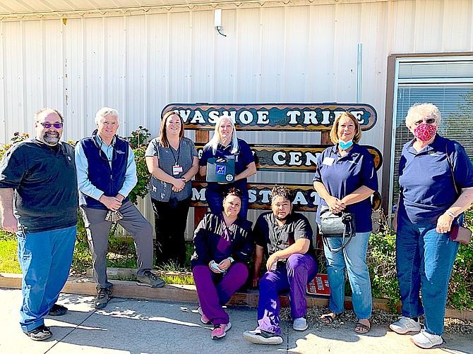 From left, Dr. Bela Toth, Joe Cooke, Kathleen Smokey, Kate Garrahan, Beez Wyatt, Skylar Zulian, Teri Byers and Nancy Humphries.