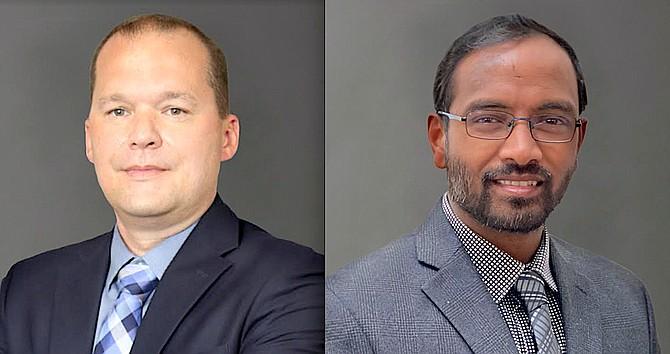 JW Hodge, left, and Kannaiah Vadlakunta.