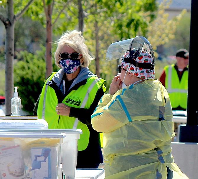 Community coronavirus testing on May 19 barely drew two-dozen people, organizers said.