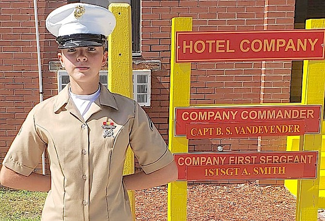 Douglas High School graduate Rebecca Ryan graduated from U.S. Marine Corps basic training at Parris Island, S.C., on May 21.