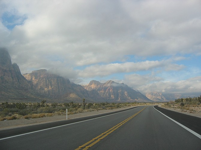 The Spring Mountain Range, located west of Las Vegas, is home to beautiful Spring Mountain Ranch State Park.