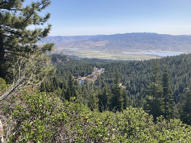 Washoe Valley and Rock Lake are seen from County Road 315. (Photo: Kyler Klix/Nevada Appeal)