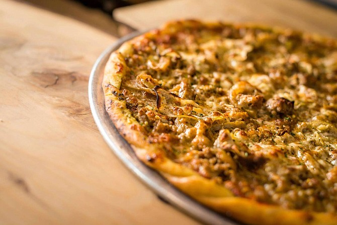 A look at one of Noble Pie's signature pizzas.