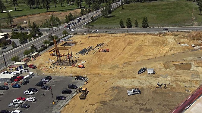 Dirt work has begun at the site of a Stateline events center next door to the MontBleu.