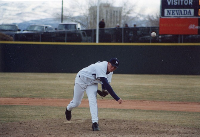 Darrell Rasner pitching for Nevada in 2001. (Photo: Nevada Athletics)