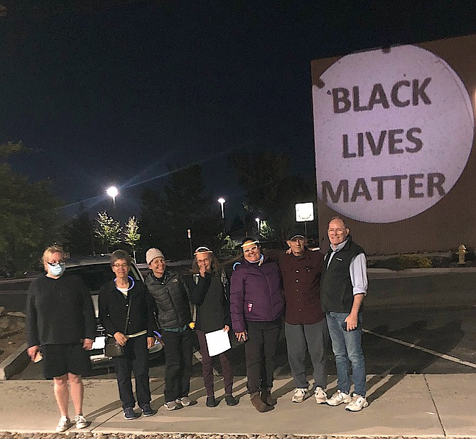 A Black Lives Matter protest shined a light on the Douglas County Judicial & Law Enforcement Center on May 25 in observance of the anniversary of George Floyd's death.