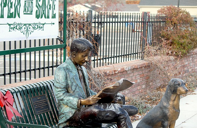 One of the joint projects between the Town of Gardnerville and Main St. Gardnerville was the statue on a bench near Sharkey's.