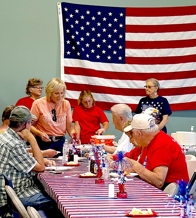 Veterans, spouses and friends were fed at High Sierra Fellowship on Memorial Day.