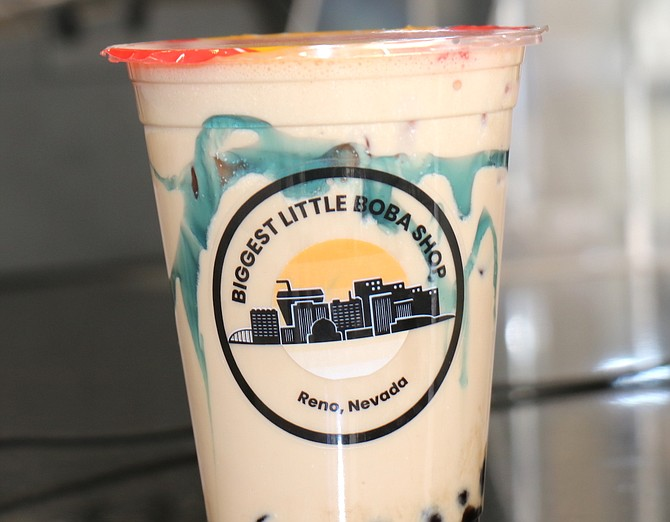 A look at one of the bubble tea beverages offered by the Biggest Little Boba Shop.