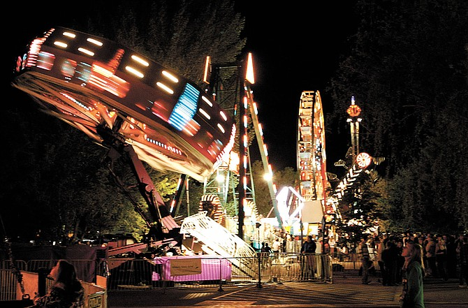The Carson Valley Days carnival lights up the night in Lampe Park in this 2010 file photo taken by Shannon Litz