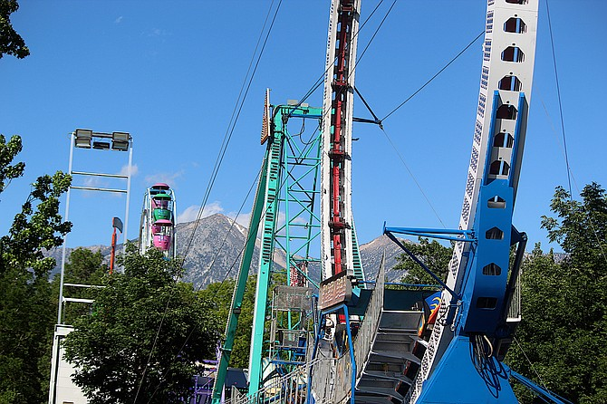 The Carson Valley Days Carnival is set up and ready for today's 5 p.m. opening.