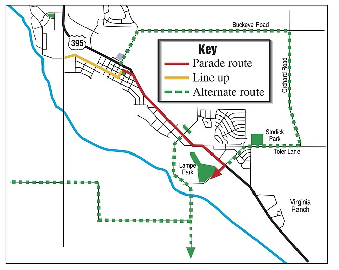 The Carson Valley Days Parade route through Minden and Gardnerville will close many side streets in the two towns.