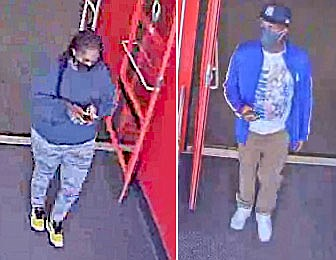 Two people are sought in connection with a Cave Rock Trailhead vehicle burglary.