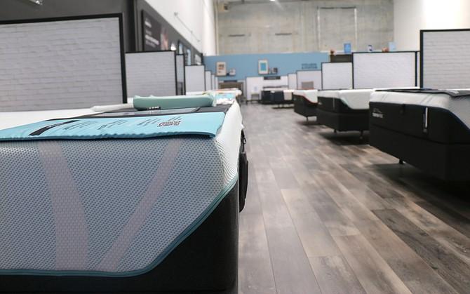 A look inside Sierra Mattress Company in Reno on May 25.