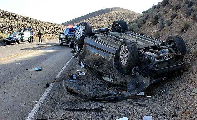 A woman was killed in a rollover on Highway 208 near the Douglas County line on Saturday
