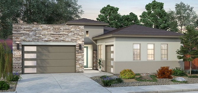 A look at one of the homes to be constructed at Cross Creek in Carson City.