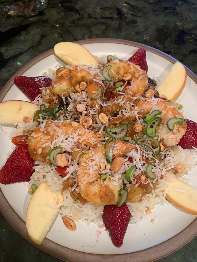 Chef Charlie Abowd's curry prawns.