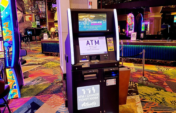 Atlantis' 12 cash-out kiosks use a program designed by slot manufacturing company Everi to give guests the option to donate change from slot tickets to four nonprofits.