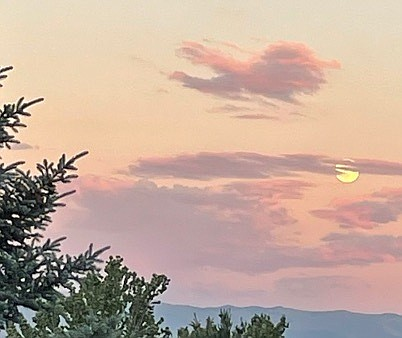 Genoa resident Marie Johnson took this photo of the moonrise after Thursday's storms cleared.