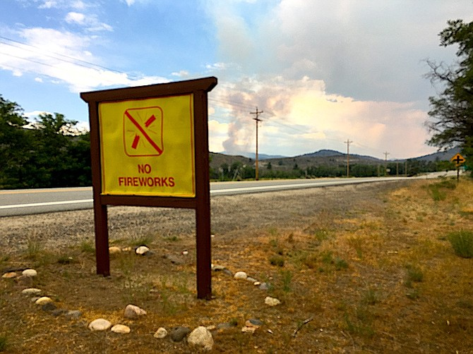 Fireworks are prohibited across the Sierra Front