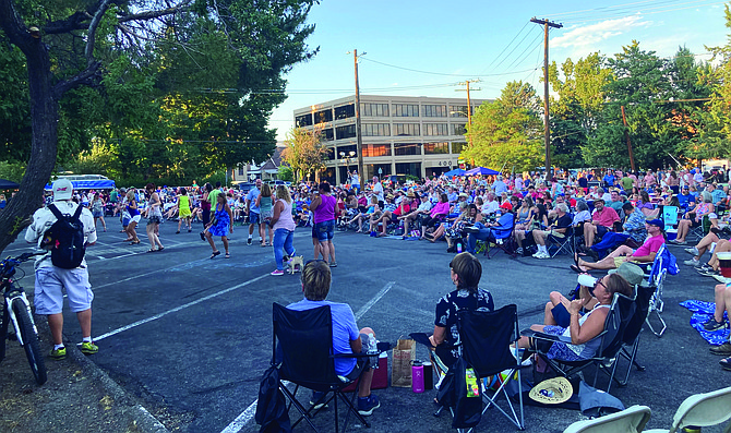 It was no surprise a large crowd came out for the first Levitt AMP Concert of the season, hosted by the Brewery Arts Center. There will be a show starting at 7 p.m. every Saturday until Aug. 28. Visit breweryarts.org for more info. (Photo: Kyler Klix/Nevada Appeal)