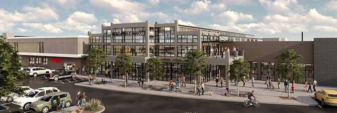 Conceptual view of Reno Public Market upon completion.