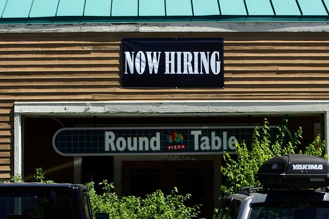 Round Table Pizza in Truckee has been advertising job openings at its store and online.