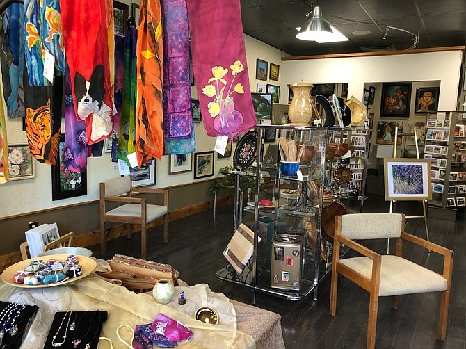 The interior of the East Fork Gallery at its new location in the Old Towne Center in Gardnerville.
