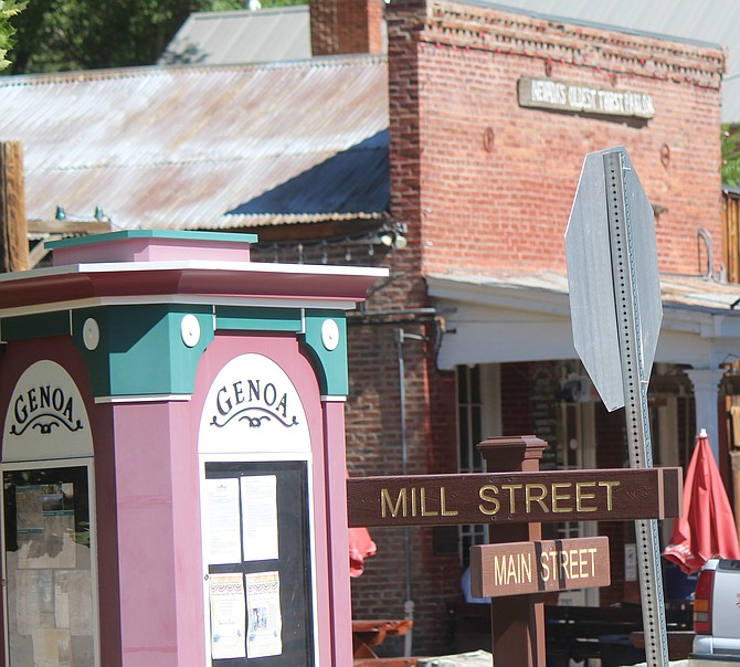 Mill and Main streets in Genoa.