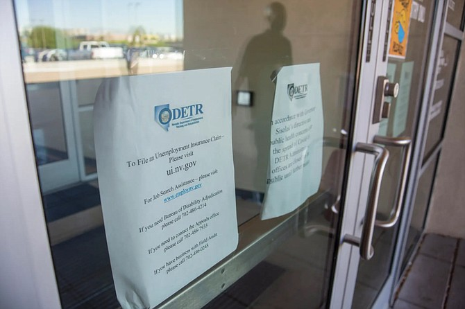 Signage as seen at the Nevada Department of Employment, Training and Rehabilitation in Las Vegas on Thursday, Sept. 3, 2020.