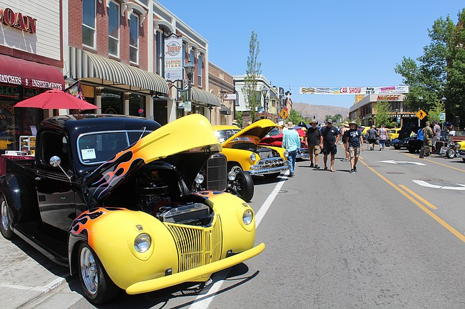The Downtown Revival Car Show sponsored by the Carson City Esther Chapter #3 Order of the Eastern Star brought many car enthusiasts to the downtown on July 10. (Photo: Ronni Hannaman)