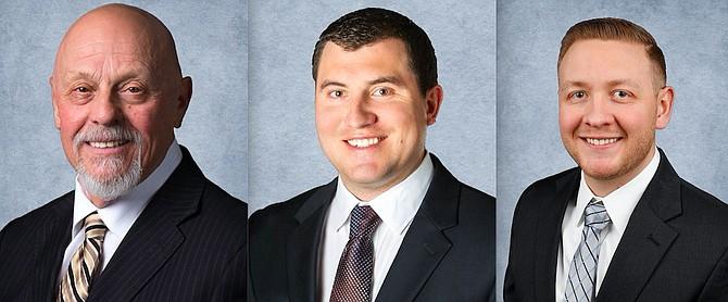 From left: Kenneth N. Blomsterberg, Ryan M. Rife and Daniel J. Winrod.