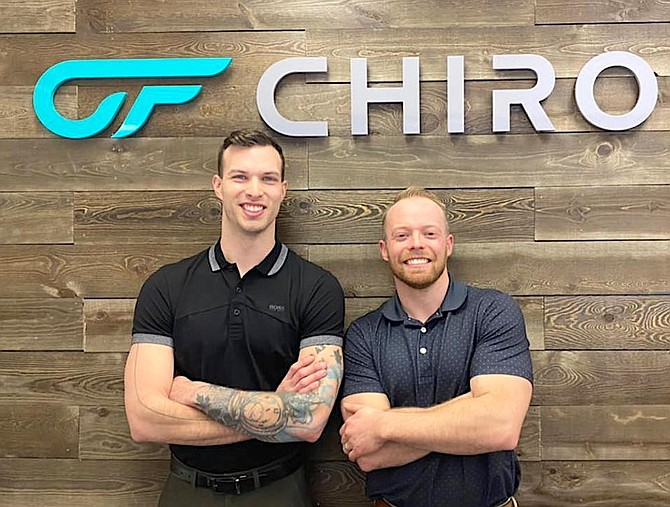 The ChiroFIT team consists of Trevor May, founder and Doctor of Chiropractic, right, and Chad Luca, Doctor of Chiropractic.