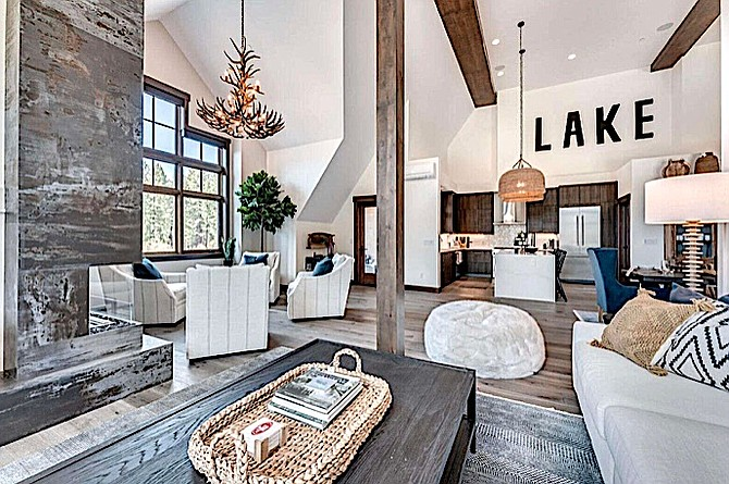 A condo that sold for $6 million at Tahoe Beach Club features an open concept floor plan.  Ali Rivera Photography