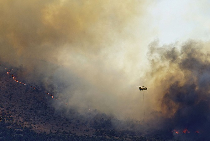 One of John Flaherty's photos of the Tamarack Fire burning in the Highway 395 corridor.