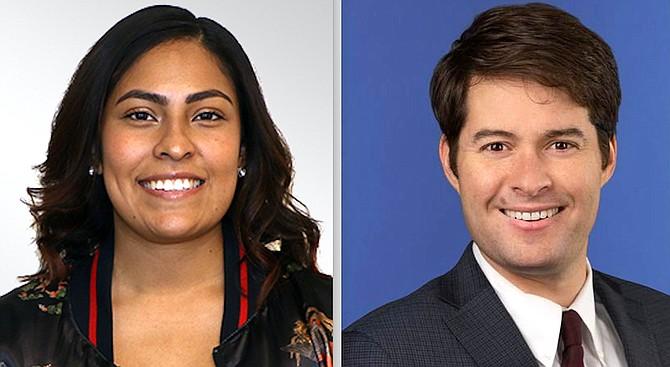Rebecca Reyes, left, and Jay Karpen.