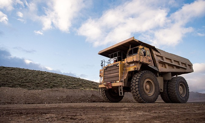 A haul truck at a Northern Nevada mine.