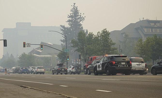 Vehicles idle in bumper-to-bumper traffic in South Lake Tahoe, Calif., Monday, Aug. 30, 2021. (Photo: Sam Metz/AP)