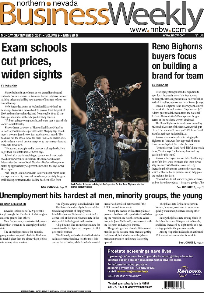 Cover of the Sept. 5, 2011, edition of the NNBW.