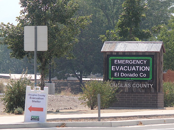 The Douglas County Community & Senior Center was reserved by the Red Cross for two weeks to house evacuees from the Caldor Fire.