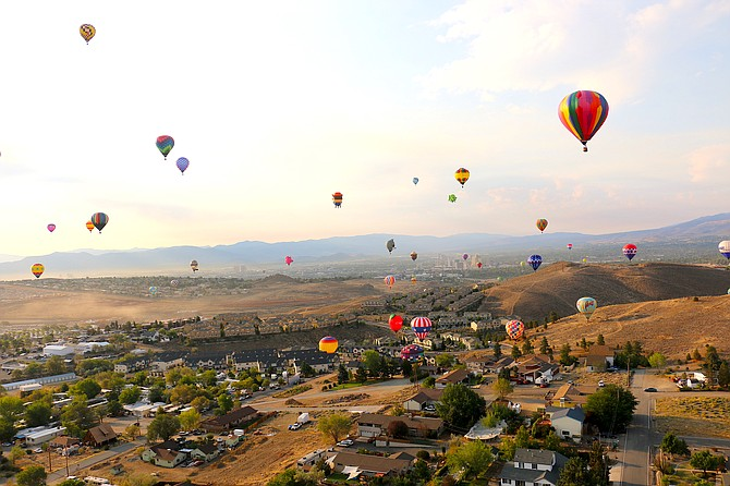 The Great Reno Balloon Race festival brings new and familiar characters to the event this year including Allycorn, Rocket Raccoon and Smokey Bear. (Photo: Jessica Garcia/Nevada Appeal)