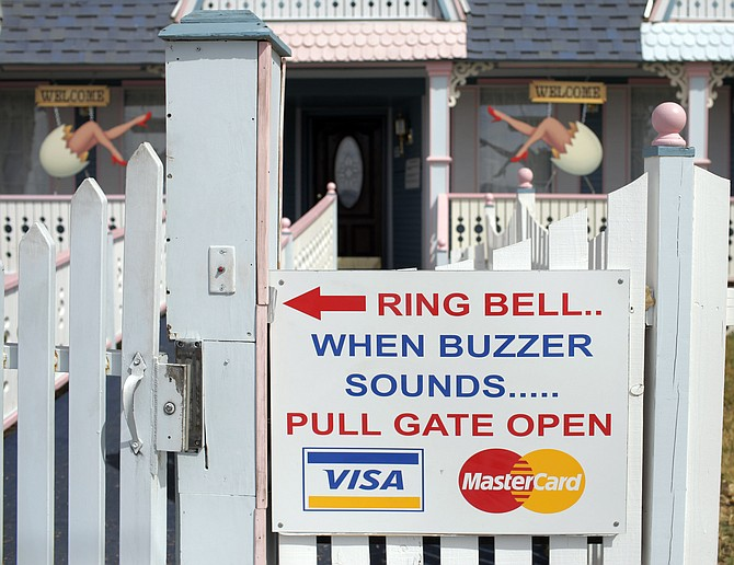 The entrance to the Chicken Ranch brothel is viewed in Pahrump on March 31, 2009. (Photo: Jae C. Hong/AP, file)