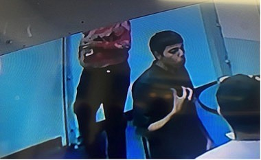 Photograph taken from video surveillance footage depicts one of the two suspects.
