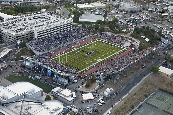 Aerial view of Mackay Stadium from 2010. (Photo: Nevada Athletics)