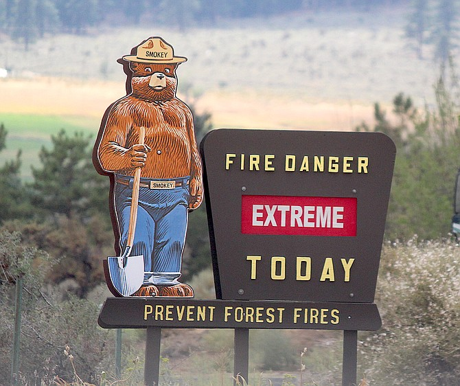 The fire danger sign at the Jacks Valley Fire Station isn't exaggerating when it says extreme. Just because the fires burning now are starting to slow down, doesn't mean the fire danger is over. It's not.