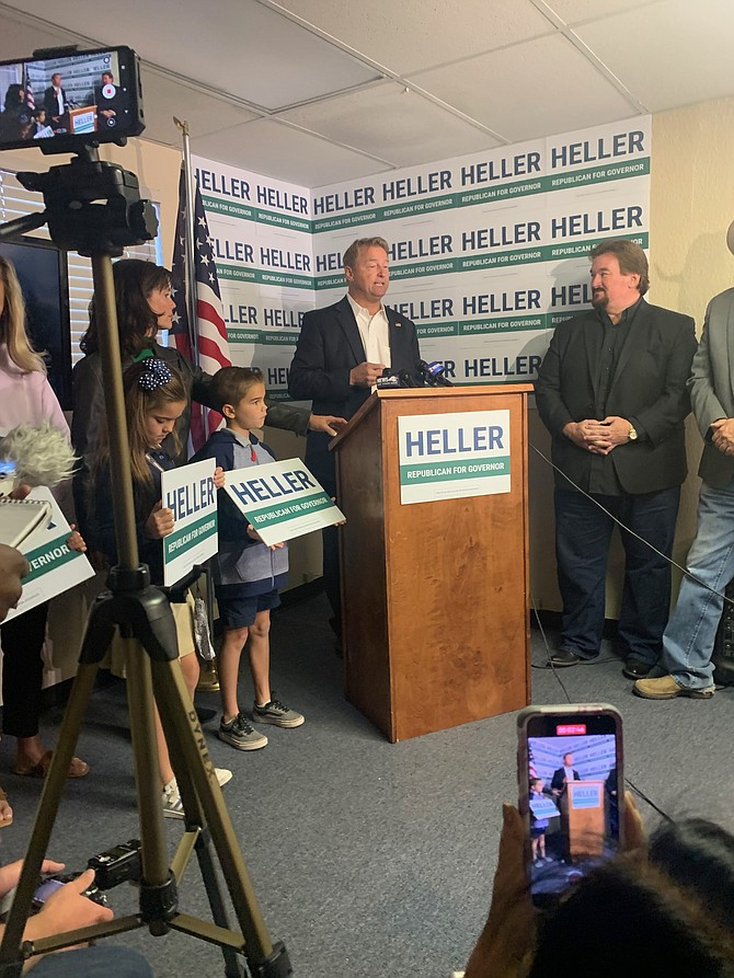 Dean Heller announces Monday that he will seek the Republican nomination for Nevada governor.