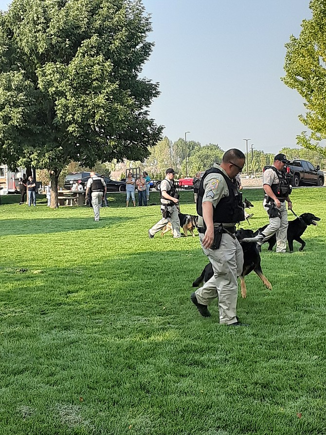 Kathy Schuman took this photos of deputies and K-9s at Bark in the Park on Friday evening.