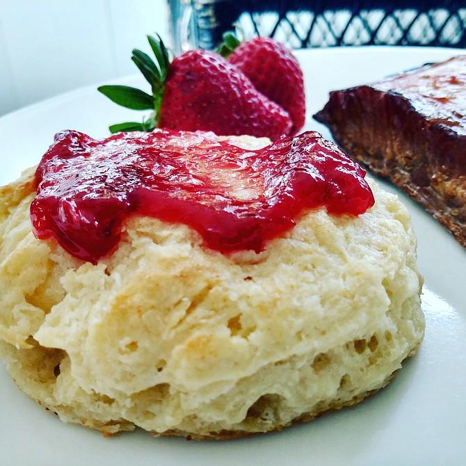 Tara Riddle's homemade buttermilk biscuits.
